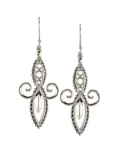Lagos Signature Caviar Double Marquise Swirl Drop Earrings 0707