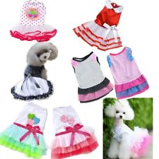 Puppy Princess Dress Pet Dog Cute Tutu Skirt Various Lace Bow Dress Up Clothes