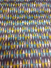 Fat Quarter Lime Twist Harlequin In Grey Makower Cotton Quilting Fabric