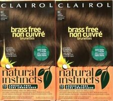 2 Ct Clairol Natural Instincts Brass Free 6C Light Brown 10 Min Semi Perm Color