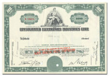 Consolidated Electronics Industries Corp. Stock Certificate (Mercury Records)