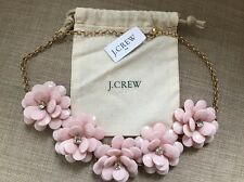 J Crew pink Enamel Flower Necklace NEW with tags $69.50 JCREW bag