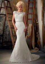 Mori Lee Lace Wedding Dress 1901 Size 8 PRICE REDUCED