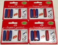 16 New Faber Castell GRIP 2001 Eraser Caps (8 Red + 8 Blue)