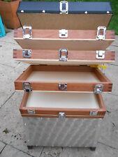 Sitzkiepe Holz Angelkoffer Forellenfischen 4 ladig