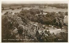 WEST WYCOMBE BUCKINGHAMSHIRE UK VIEWED FROM CHURCH TOWER PHOTO POSTCARD 1930s