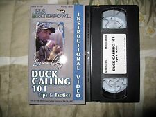 DUCK Calling 101 VHS BARNIE CALEF Instruction Video VHS Tips & Tactics RARE