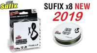 NEW 2019 Japanese Sufix X8 Braided Fishing Line Stealth Green 135m 0.1-0.4mm
