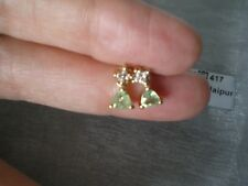 Paraiba Tourmaline & Zircon studs, 0.71 carats, in 1.38 grams 10k Yellow Gold