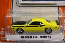 DODGE CHALLENGER T/A 1970 BANANA YELLOW GREENLIGHT MUSCLE SERIES 12 13120 1:64