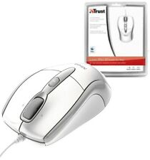 TRUST 15988 WHITE USB LASER MINI MOUSE FOR APPLE MAC/MACBOOK OR PC, NOTEBOOK ETC