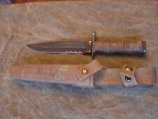 USMC Ontario Knife OKC3S Marine Bayonet with scabbard - VG