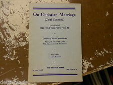 On Christian Marriage - October 10, 1936 - Encyclical of Pope Pius XI
