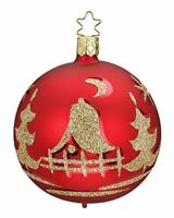 Inge Glas Kugel Ball Christmas Eve 20203T008 German Glass Christmas Ornament