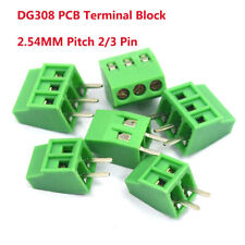 2 Pin 3 Pin DG308 2.54MM Pitch PCB Terminal Block Screw Right Angled Connector