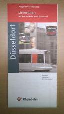 Rheinbahn Düsseldorf - Linienplan Bus & Bahn (ausgabe Dezember 2002)