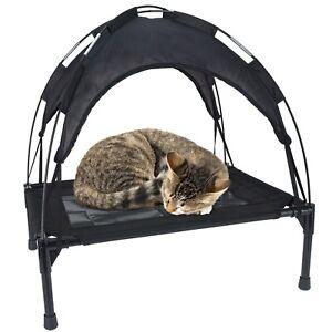 60cm Premium Elevated Pet Dog or Cat Bed Animal Black Indoor/Outdoor Canopy Tent