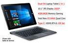 Chuwi USA Hi10 PRO IPS 4GB/64GB Windows10 Android 5.1 Tablet PC + Keyboard Set