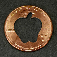 Lucky Penny with apple cut out