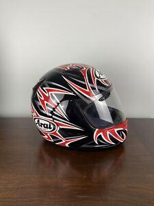Arai Quantum 2 Black and Red Full Face Motorcycle Helmet Snell Dot, Medium