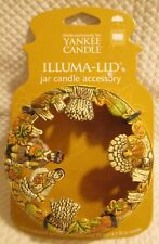YANKEE CANDLE Illuma Lid Topper Candle Happy Thanksgiving RARE - NEW!