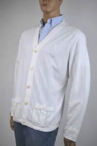 Ralph Lauren White Cotton Mesh Cardigan Sweater XL NWT $125