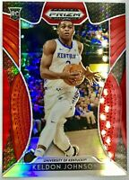 2019-20 Panini Keldon Johnson Silver Prizm Red Rookie RC San Antonio Spurs 📈🔥