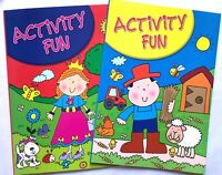 2 X A4 Activity Book Kids Children Colouring Dot To Dot Travel Holiday Fun UK