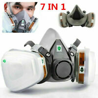 7in1 Half Face Facepiece For 6200 Gas Painting Spray Protection Respirator