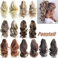 Tool Hair Extensions Hairpiece Curly Wavy Clip On Ponytail Jaw Horse Tail