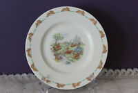 """ROYAL DOULTON BUNNYKINS PLAYING ON THE RIVER 8"""" FINE  BONE CHINA PLATE"""