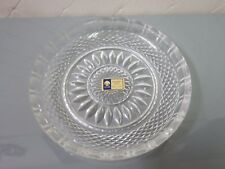 Lausitzer Glas Bleikristal 24% Leaded Crystal Serving Plate Tray German Vintage