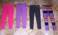 NWT NIKE Girls Thermal Leggings Waffle Knit Skinny Leg Pants Gray Pink Purple