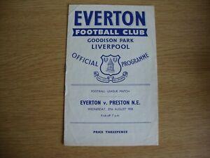 1958/9 Everton v Preston North End PNE - League Division 1