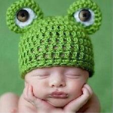 1pcCute baby Infant Baby Girl Boy Handmade Crochet Knit Frog Hat Photograph Prop