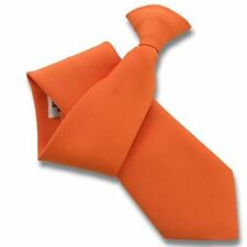 Matt Plain Clip On Clipper Tie - British made Standard and XL Extra Long Lengths