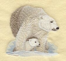 Embroidered Fleece Jacket - Polar Bear and Cub M2272 Sizes S - Xxl