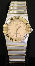 Omega Constellation SS/18K gold elegant high fashion quartz ladies watch
