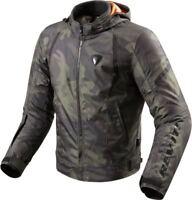 REVIT FLARE Herren Motorrad Textiljacke Sport - army grün Gr. L