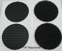 Velcro strip Black Self Adhesive sticky pads Discs Coin Dot 45mm 6 hook & 6 loop