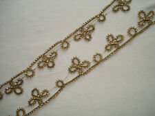 galon d'or ancien  - antique gold metallic passementerie trim - alte Goldlitze