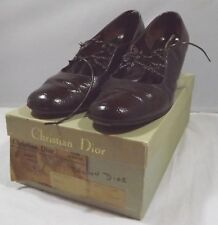 Vintage Boxed Pair of Christian Dior Ladies Leather Shoes, Size 7.5