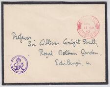 1942 KGVI Royal Cachet/Windsor Castle Flap/Mourning Cover;Official Pd: Edinburgh