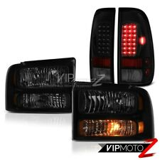05 06 07 F350 Harley Davidson Sinister Black Taillamps Headlights LED Oe Style