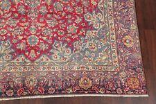 Vintage Floral Najafabad Handmade Oriental Area Rug Medallion Wool Carpet 8'x13'