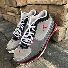 Air Jordan 1 Team Low Kids 440822-002 Gray Red Size  6Y  Preowned