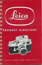 Leica 1954 Product Directory