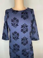 White Stuff Dress UK Size 10 Womens Ladies Blue Black Floral Pockets BNWT New 12