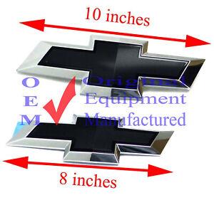 23213446 Front Grille n Endgate Black Bowtie Emblems 2013-17 Chevrolet Traverse