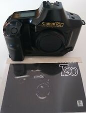 Canon T-90 T90 35mm SLR film camera with body cap, Fully Working